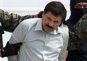 "This Feb. 22, 2014 file photo shows Joaquin ""El Chapo"" Guzman, the head of Mexic..."