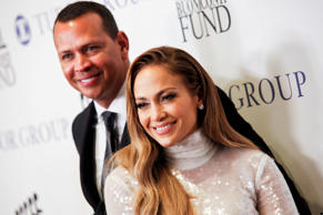 Alex Rodriguez, left, and Jennifer Lopez, right, attend the 33rd annual Great Sp...
