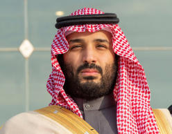 Saudi Arabia's Crown Prince Mohammed bin Salman attends a graduation ceremony fo...
