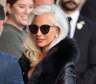 Lady Gaga is seen at 'Jimmy Kimmel Live' on February 27, 2019 in Los Angeles, Ca...