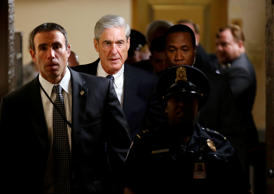 Special Counsel Robert Mueller departs after briefing members of the U.S. Senate...