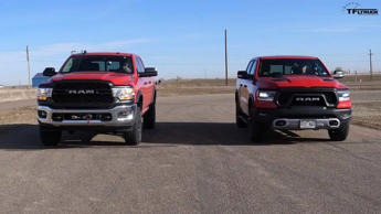 Ram Rebel Vs Power Wagon Drag Race