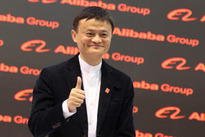The founder of Chinese internet company Alibaba Group, Jack Ma, attends the comp...