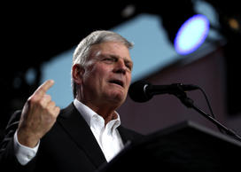 "Rev. Franklin Graham speaks during Franklin Graham's ""Decision America"" Californ..."
