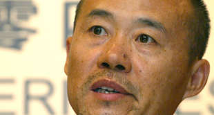 Chairman of China Vanke Co., Ltd., Wang Shi meet the press in 2004 interim resul...