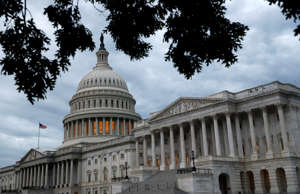 The U.S. Senate and Capitol dome are seen on Capitol Hill, Wednesday, June 12, 2...