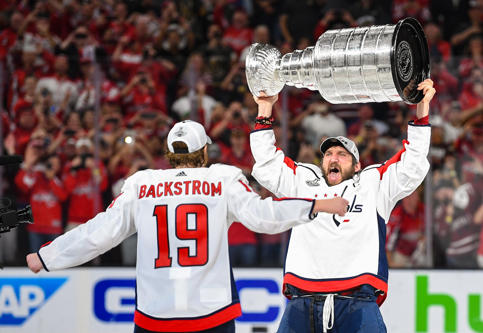 Jun 7, 2018; Las Vegas, NV, USA; Washington Capitals left wing Alex Ovechkin (8)...