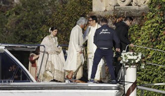Guests arrive to attend the wedding of Indian Bollywood stars Deepika Padukone a...