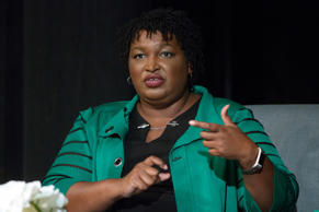 This combination of May 20, 2018, photos shows Georgia gubernatorial candidates ...