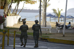 Soldiers patrol Acapulco, in Guerrero state, Mexico on February 21, 2019. - Mexi...